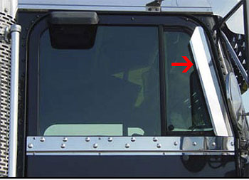 Freightliner Window Air Deflectors